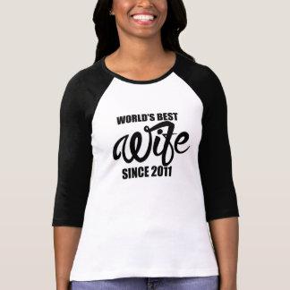 Worlds best wife since 2011 T-Shirt