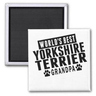 World's Best Yorkshire Terrier Grandpa Square Magnet
