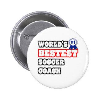 World's Bestest Soccer Coach 6 Cm Round Badge