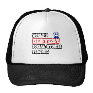 World's Bestest Social Studies Teacher Hat