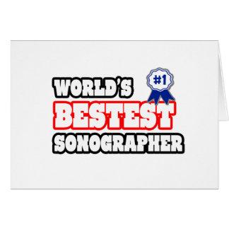World's Bestest Sonographer Card