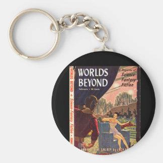 Worlds Beyond v01 n03 (1951-02.Hillman)_Pulp Art Basic Round Button Key Ring