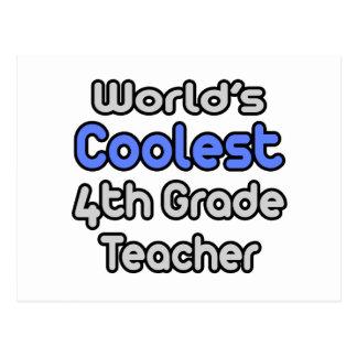 World's Coolest 4th Grade Teacher Post Card