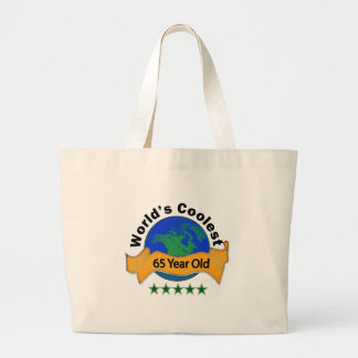 World's Coolest 65 Year Old Jumbo Tote Bag