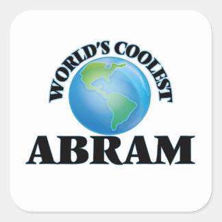 World's Coolest Abram Square Stickers