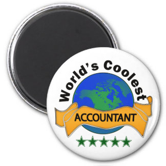 World's Coolest Accountant 6 Cm Round Magnet