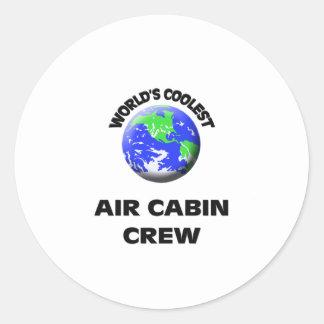 World's Coolest Air Cabin Crew Round Sticker