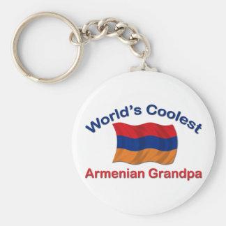 World's Coolest Armenian Grandpa Basic Round Button Key Ring