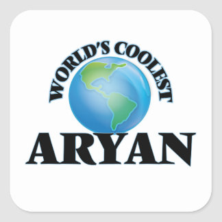 World's Coolest Aryan Square Stickers