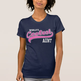 World's Coolest Aunt Tee Shirts