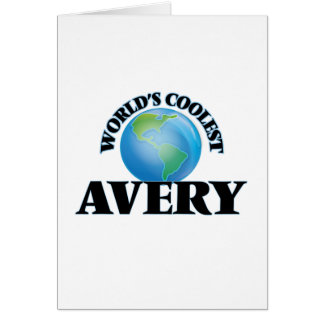 World's Coolest Avery Greeting Card