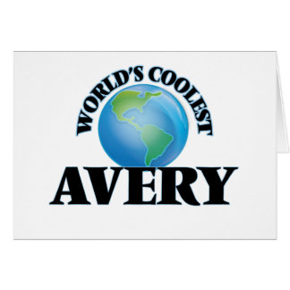 World's Coolest Avery Card