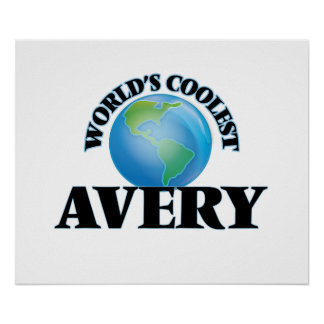 World's Coolest Avery Poster