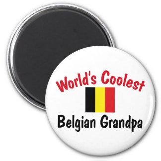 World's Coolest Belgian Grandpa Refrigerator Magnet