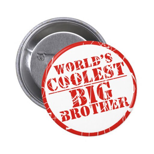 World's Coolest Big Brother 6 Cm Round Badge