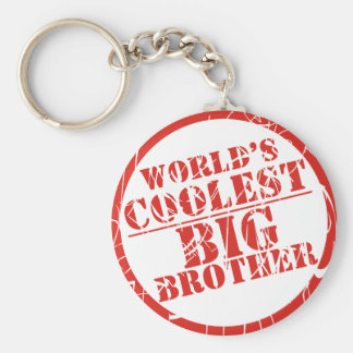 World's Coolest Big Brother Basic Round Button Key Ring