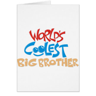 World's Coolest Big Brother Greeting Card