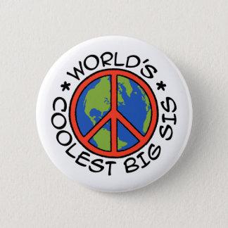 World's Coolest Big Sister 6 Cm Round Badge