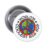 World's Coolest Big Sister 6 Cm Round Badge