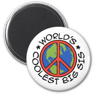 World's Coolest Big Sister 6 Cm Round Magnet