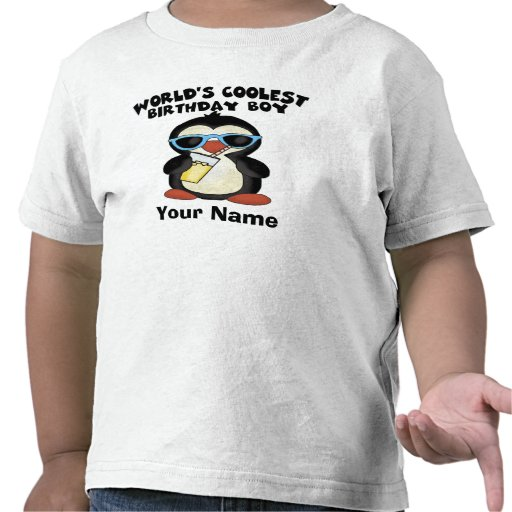 World's Coolest Birthday Boy Personalized T-shirt