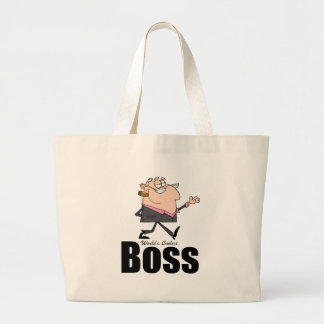 World's Coolest Boss Canvas Bags