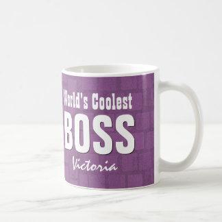 World's Coolest BOSS Purple Bricks Custom V21E Coffee Mug