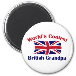 World's Coolest British Grandpa 6 Cm Round Magnet
