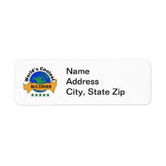 World's Coolest Bus Driver Return Address Label
