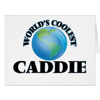 World's coolest Caddie Greeting Cards