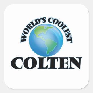 World's Coolest Colten Square Stickers