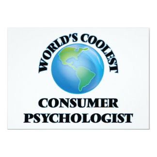 World's coolest Consumer Psychologist Custom Announcement Card