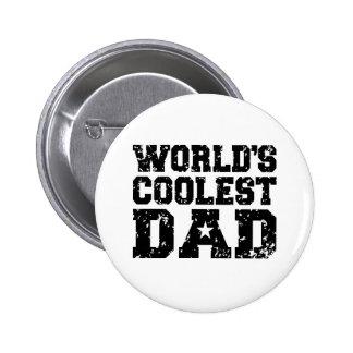 World's Coolest Dad 6 Cm Round Badge