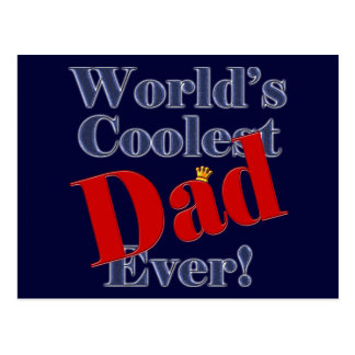 World's Coolest Dad Ever Father's Day Gift Postcards