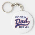 World's Coolest Dad Keychains