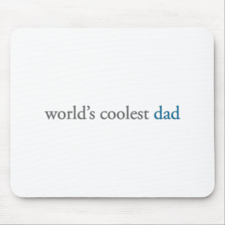 world's coolest dad mouse pad