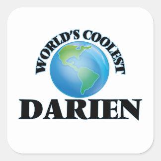 World's Coolest Darien Square Sticker