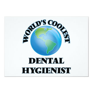 World's coolest Dental Hygienist Personalized Announcement Cards