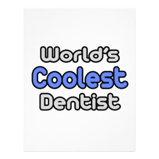 World's Coolest Dentist 21.5 Cm X 28 Cm Flyer