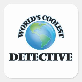 World's coolest Detective Square Sticker