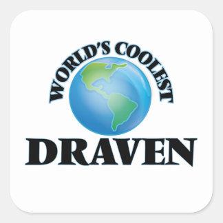 World's Coolest Draven Square Sticker