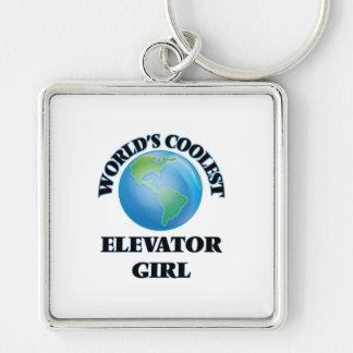 wORLD'S COOLEST eLEVATOR gIRL Keychain