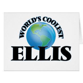 World's Coolest Ellis Big Greeting Card