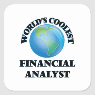 World's coolest Financial Analyst Square Stickers