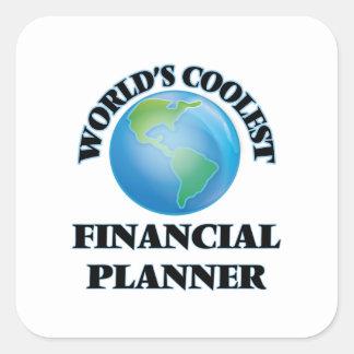 World's coolest Financial Planner Square Sticker