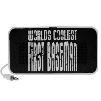 Worlds Coolest First Baseman Laptop Speaker