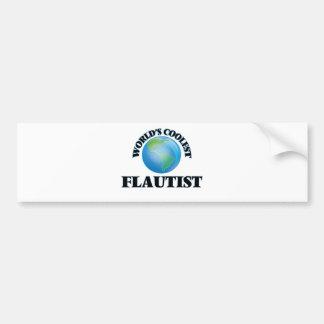 World's coolest Flautist Bumper Sticker