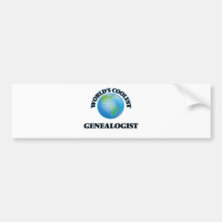 World's coolest Genealogist Bumper Stickers