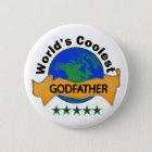 World's Coolest Godfather 6 Cm Round Badge