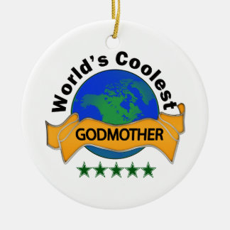 World's Coolest Godmother Christmas Ornament